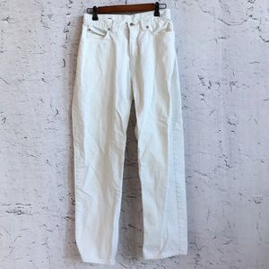 LAND'S END WHITE HIGH RISE JEANS 8